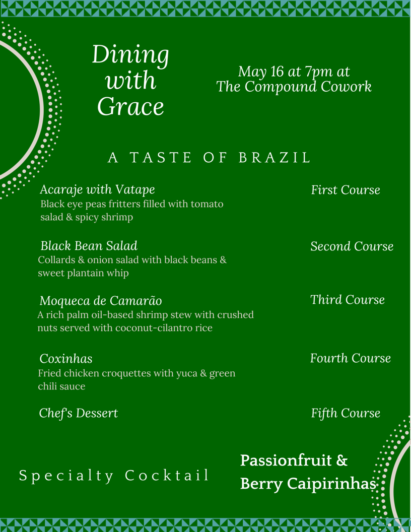 NEW TASTE OF BRAZIL MENU