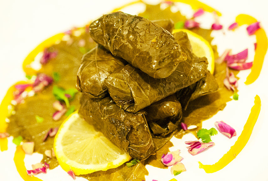 Stuffed Vine Leaves with Fenugreek